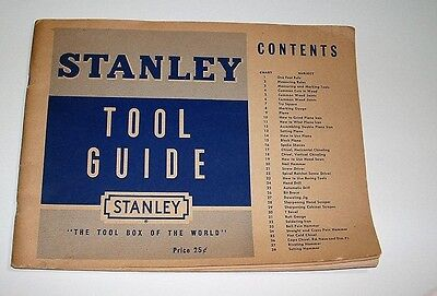 """Vintage 1950 """"Stanley Tool Guide"""" Use and Care of Tools"""