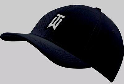 Adult Unisex Tiger Woods Nike Heritage86 Swoosh Flex Hat Size S/M Dri-Fit Black
