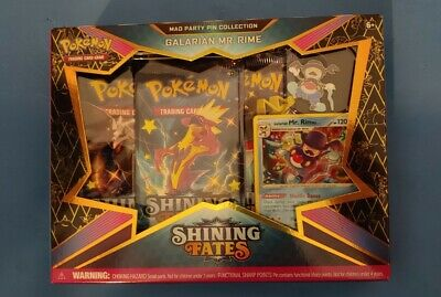 Pokemon Shining Fates Mad Party Pin Collection Galarian Mr Rime Factory Sealed