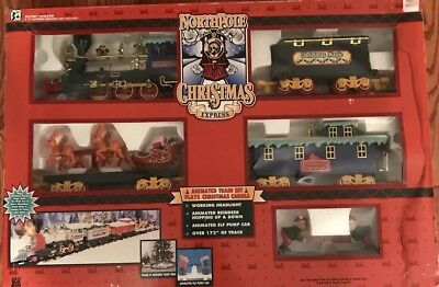 Toy State Northpole Christmas Express Battery Operated Train Set