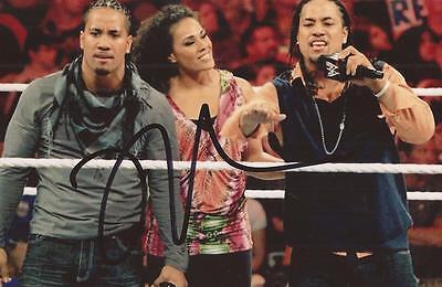 WWE WRESTLING: JEY USO SIGNED 6x4 ACTION PHOTO+COA