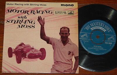 STIRLING MOSS ~ MOTOR RACING ~ RARE UK 4-TRACK Y/B PARLOPHONE EP 1960 ~ TOP COPY