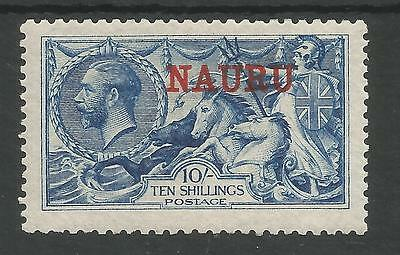 NAURU SG23 THE 1916 GV  DLR 10/- DEEP BRIGHT  BLUE FRESH MINT CAT £500