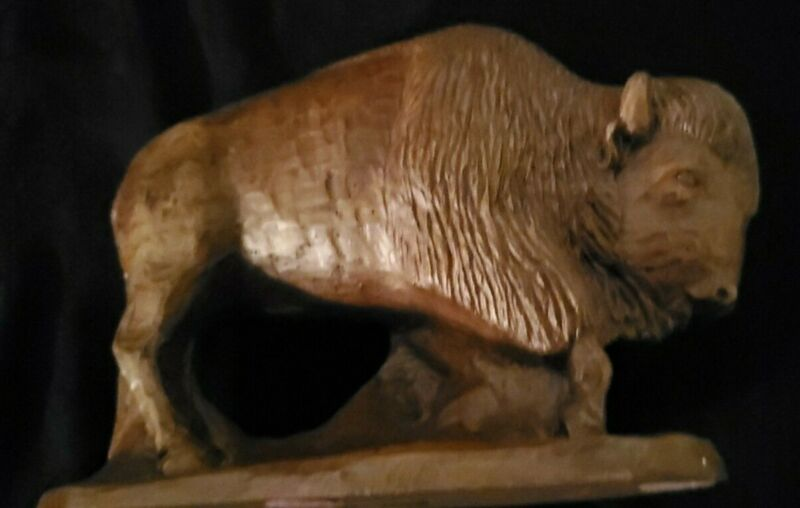 Red Mill Mfg American Buffalo Bison Handcrafted Figurine.