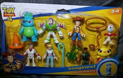 Imaginext Disney Pixar Toy Story 4 Deluxe 8 Figure Pack Woody Buzz Forky Bo Peep