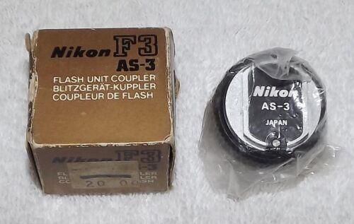 Nikon AS-3 Flash Unit Coupler for F3 - Made In Japan - NOS