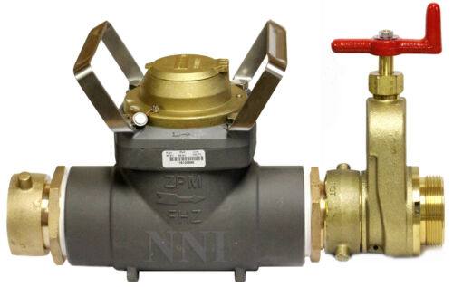 """NEW 3"""" FIRE HYDRANT METER Model FHZ30SUS 2-1/2"""" Swivel with Gate Valve"""