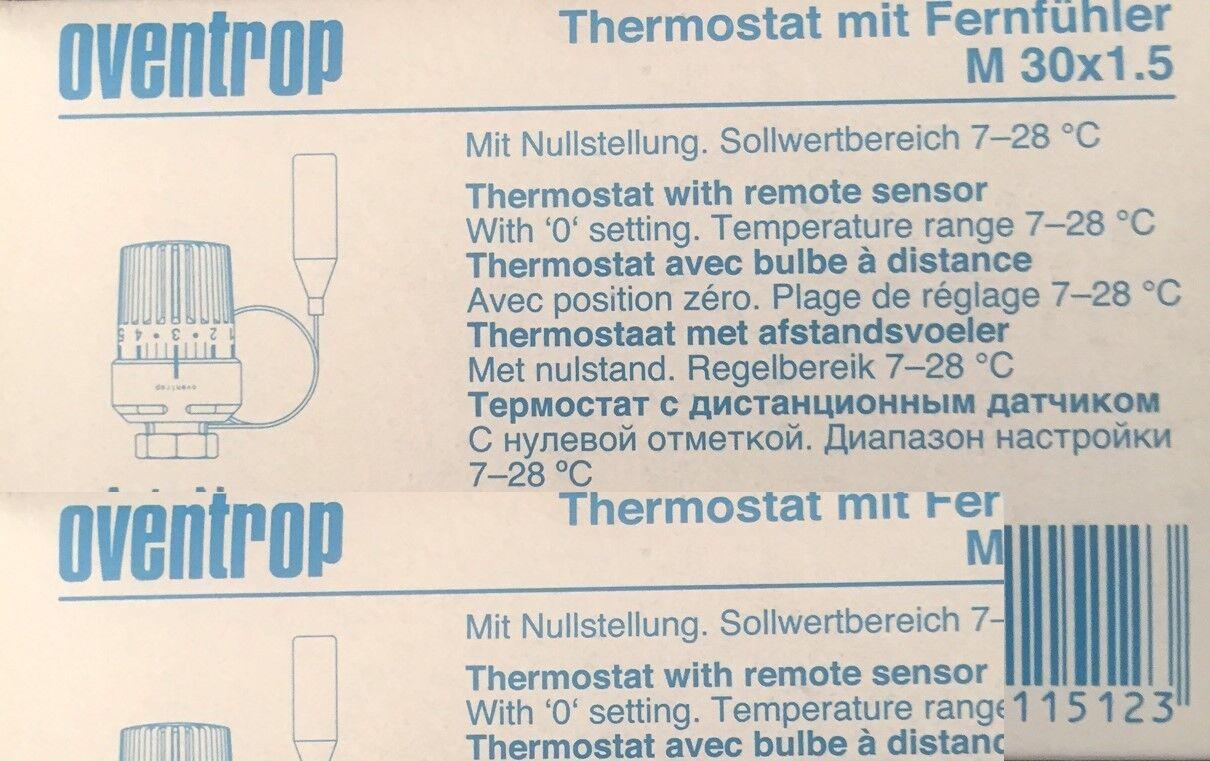 thermostatkopf mit f hler oventrop m30x1 5 thermostat fernf hler 2 0mkapillarroh eur 25 90. Black Bedroom Furniture Sets. Home Design Ideas