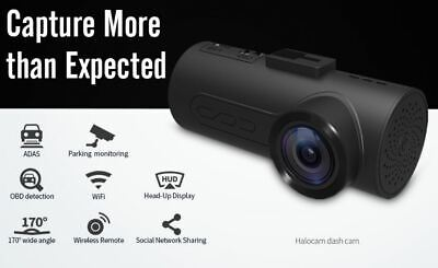 HaloCam C1 FHD 1080P Dash Cam Halo Cam with Rear Number Plate Camera Kit