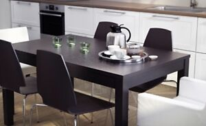 Black / Brown extendable dining table Canning Vale Canning Area Preview
