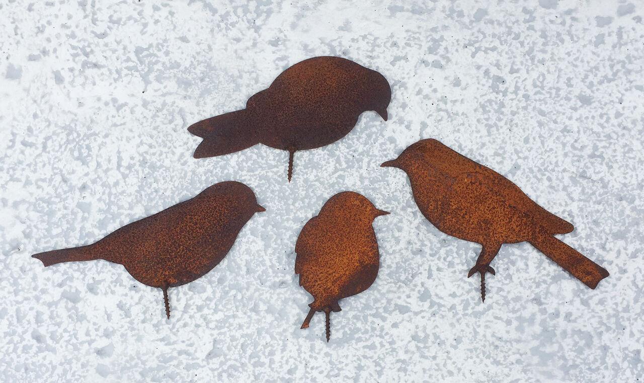 Edelrost vogel gartendekoration gartendeko rost for Gartendekoration aus rost