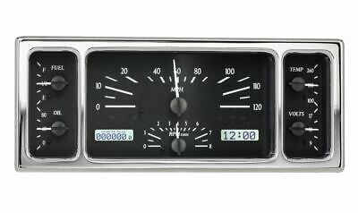 Dakota Digital 1935-36 Ford Car Gauge Black Alloy Face~White Display VHX-35F-K-W