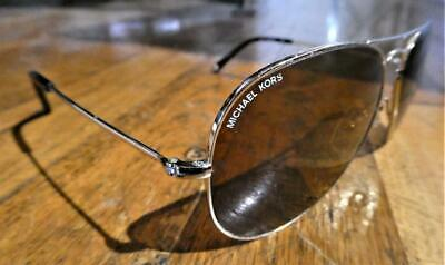 "MICHEAEL KORS ""Jet Set"" M2047S-58-14-Tortoise-Gold Aviator Frames Sunglasses"