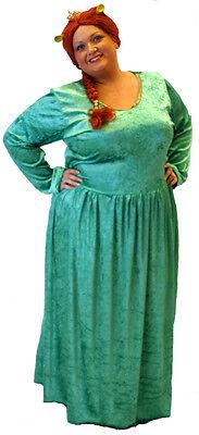 Prinzessin Fiona / Ungeheuer Kostüm Märchen Übergrößen 18-40