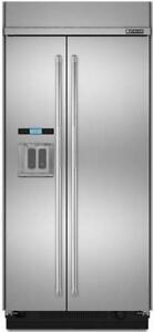 "Jenn-Air JS48PPDUDE 48"" Built In Side by Side Refrigerator with Water Dispenser"
