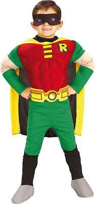 Batman Kinder Muskel Kostüm Robin zu Karneval (Batman Und Robin Kostüm Kinder)