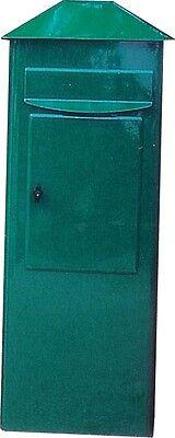 Großraum Briefkasten GIGA Grün Street mit Entnahme von vorne Standbriefkasten