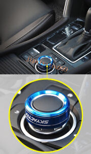 For Mazda 6 Atenza 2016-2017 Blue Aluminium Gear Shift Panel Button Ring Cover