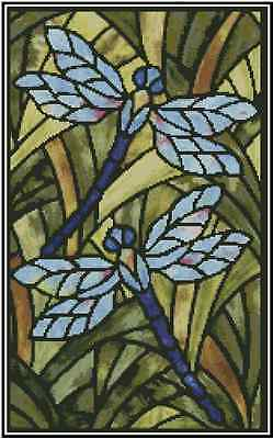 Dragonfly Stained Glass Counted Cross Stitch Chart No.29-108