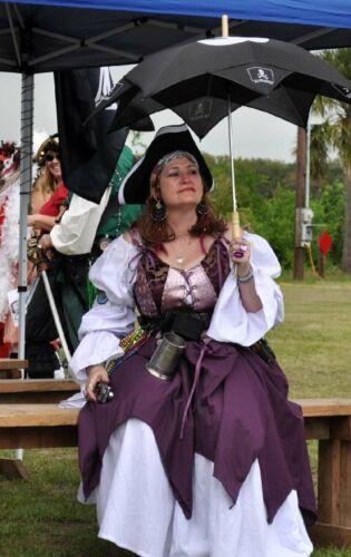 Pirate Renaissance Dragon Corset Vest Purple Reversible L