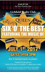 Six O'the Best Music Festival in Lichfield in aid of The Stan Bowley Trust raising money for cancer