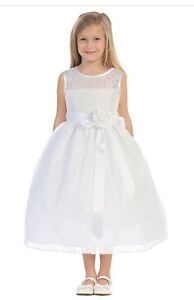 New Flowergirl Princess Dresses - sizes 2 to 12 - white or ivory