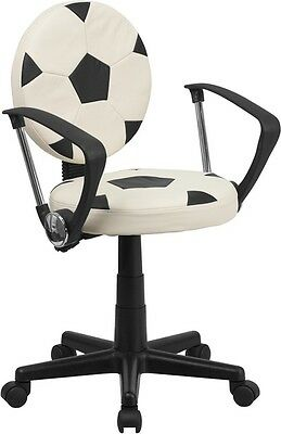 Soccer Ball Design Task Office Chair With Arms - Office Desk Chair