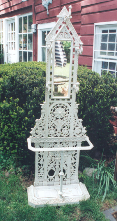 Gothic Antique Cast Iron Hall Umbrella Stand English Victorian SIGNED FALKIRK