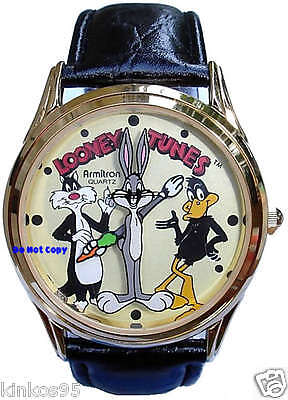 NEW Armitron Looney Tunes Sylvester Bugs Bunny & Daffy Duck Watch