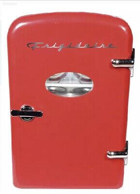 Frigidaire Retro Mini Compact Beverage Refrigerator , For 6 Cans , 4L , Red