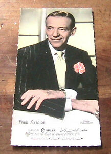 "FRED ASTAIRE 1940s PARAMOUNT PHOTO PICTURE CARD -DATED FRENCH NEW/OLD STOCK- NEW - France - Commentaires du vendeur : ""PERFECT UNUSED NEW CONDITION - AUTHENTIC ORIGINAL VINTAGE - MADE IN FRANCE"" - France"