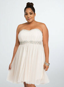 Plus Size Ivory Cocktail Dress - Size 24