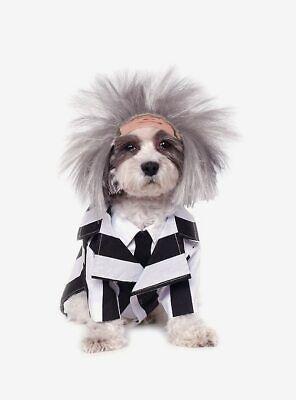 Beetlejuice Dog Costume (Beetlejuice Dog Costume Striped Jacket & Wig Size)
