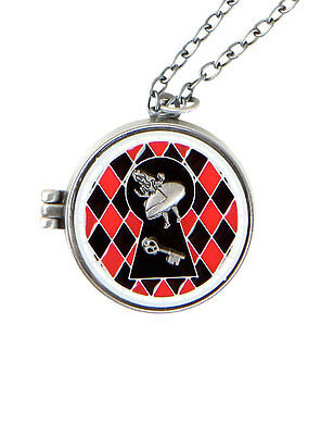 DISNEY ALICE IN WONDERLAND LOCKET NECKLACE LICENSED PRODUCT STAIN GLASS