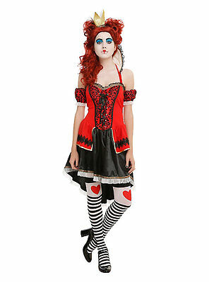 Hot Topic Alice Themed Red Queen Dress Size SM QUEEN OF - Red Themed Kostüm