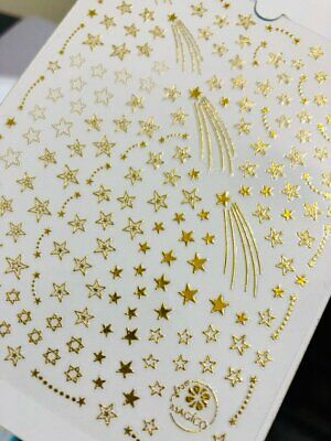 Gold meteor nail sticker/ shooting starNail Art Stickers Self Adhesive Gold Self Adhesive