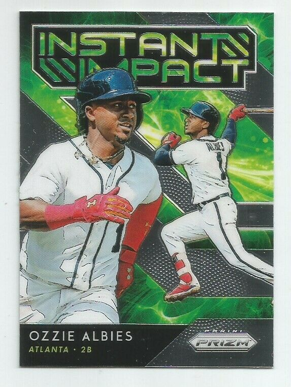 2019 PRIZM BRAVES OZZIE ALBIES INSTANT IMPACT INSERT CARD II
