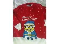 Adults s/m minion Christmas jumper