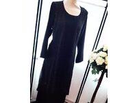 Black Kimono with gold polkadots - ZeeHM Fashion