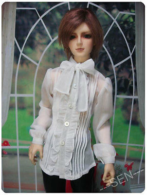 1/4 BJD MSD boy girl doll outfit gothic white shirt super dollfie luts minifee