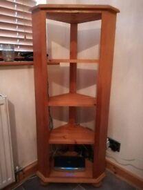 Solid wood corner unit
