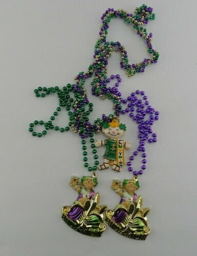3 Large Mardi Gras Plastic Beads Necklace Endymion Resin