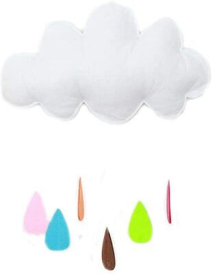 Ceiling Mobile Hanging Decoration Garland for Crib Kids Room (White Cloud)