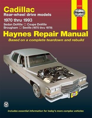 Repair Manual for Cadillac RWD Gas DeVille 70-85 Brougham 70-93 & Seville 75-79