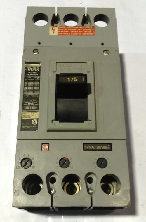 HF63B175 Gould ITE Circuit Breaker 3 Pole 175 Amp 600V