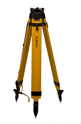 NEW Sokkia Wood Fiberglass Tripod,Total Station, laser, level, or GPS  724282