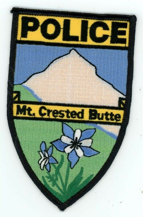 MOUNT MT CRESTED BUTTE COLORADO CO POLICE COLORFUL PATCH SHERIFF