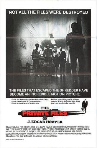 THE PRIVATE FILES OF J. EDGAR HOOVER orginal 1977 1sht movie poster LARRY COHEN