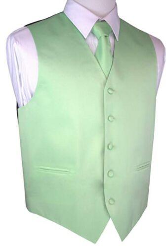 New Brand Q Formal Mens Vest Tuxedo Waistcoat & Necktie Mint