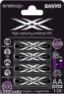SANYO ENELOOP XX AA 144 PK PRECHARGED BATTERIES MIN 2450mAh,1.2 V, MADE IN JAPAN